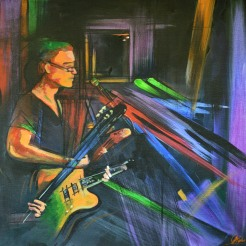 The Guitars - Acrylic on Canvas. NFS