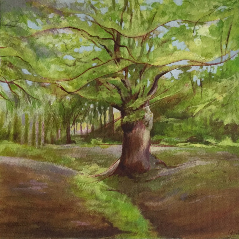 The Tree 1 - acrylic on canvas. FOR SALE
