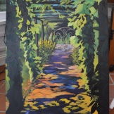 Garden path - acrylic on canvas. NFS