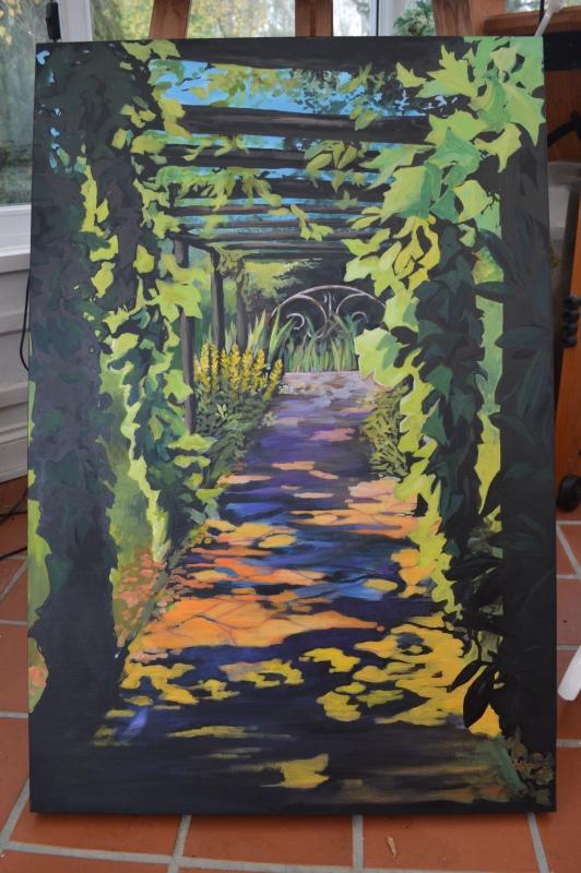 Garden path - acrylic on canvas. NFS