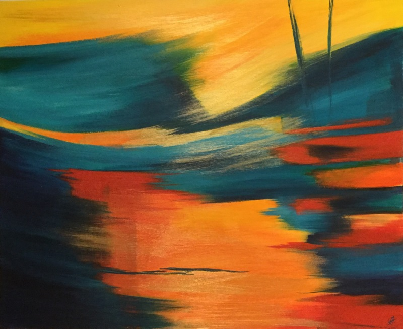 Abstract 2 - acrylic on canvas board. SOLD