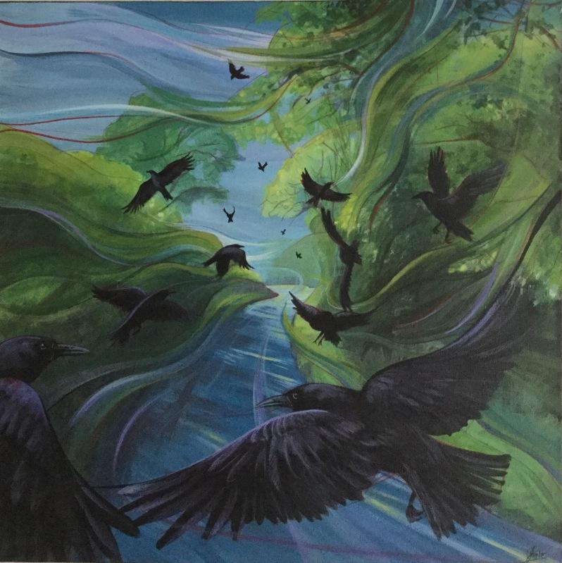 Flight - acrylic on canvas. SOLD