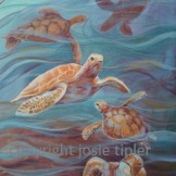 turtle soup - acrylic on board. FOR SALE