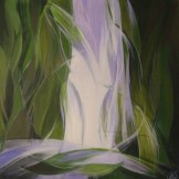 waterfall end - acrylic on board - FOR SALE