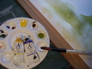 3- mixing palette