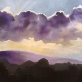 cloud over the downs - pastel on paper - FOR SALE