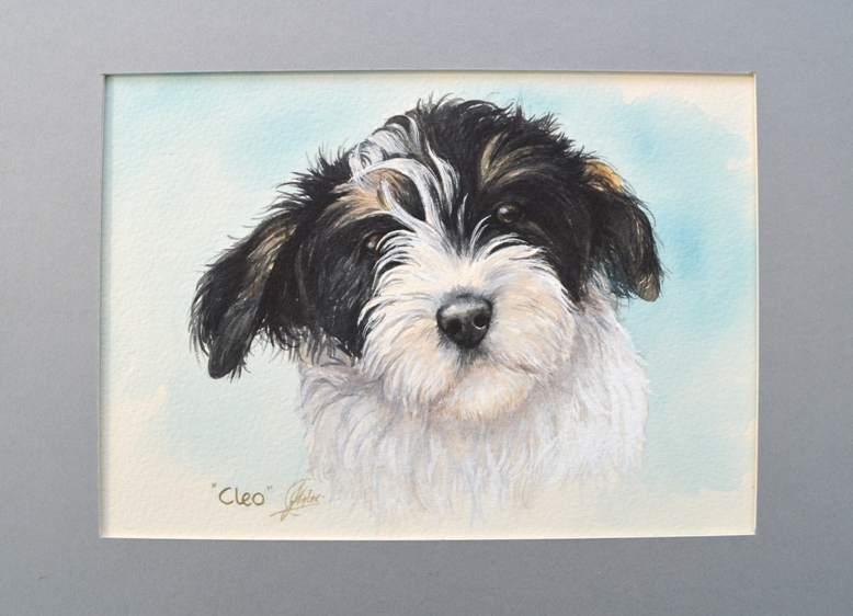 CLEO - watercolour commission - SOLD