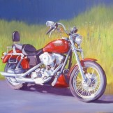Harley - acrylic on board (Commission from client's photo)- SOLD