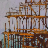 West Pier - acrylic on paper - SOLD